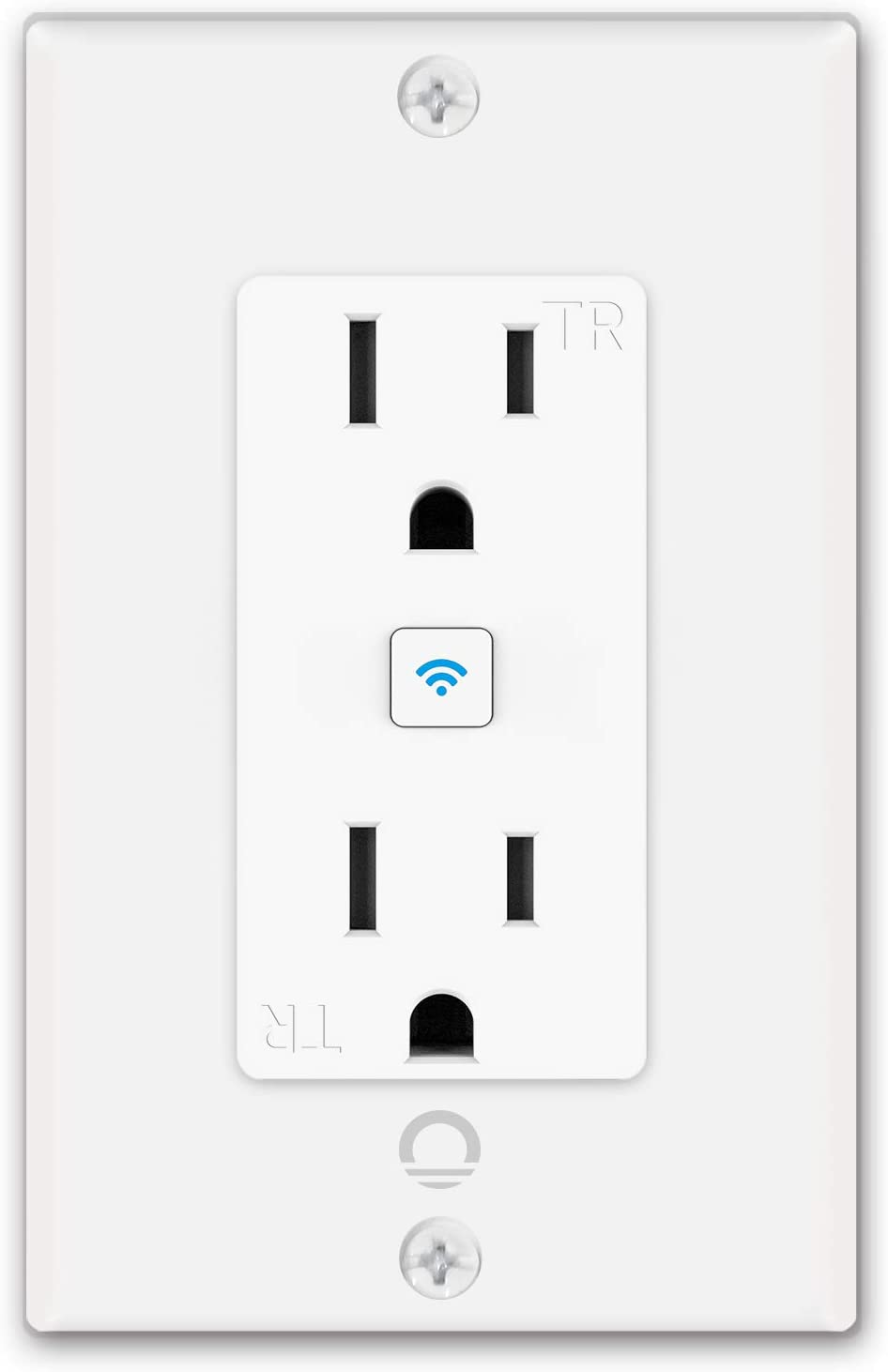 Lumary Smart WiFi In-Wall Outlet 15 Amp Tamper Resistant Split Duplex Receptacle - 2 Plugs, Compatible with Alexa, Google Home (No Hub required) - -