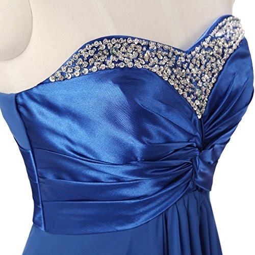 Sarahbridal Damen Lang Chiffon Abendkleider Bandeau mit Pailletten Ballkleid Cocktailkleid SSD003 Grün EU32 usJJV14uOb