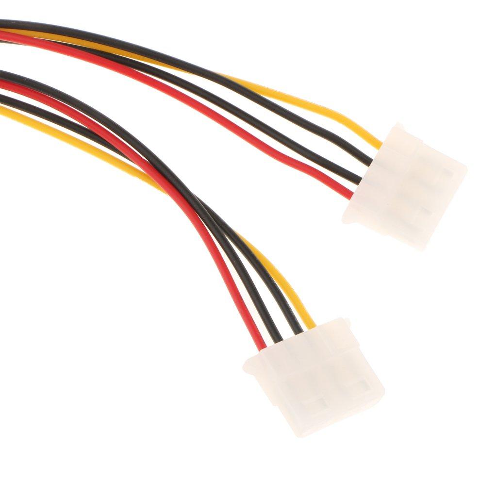Homyl Cable 2 Femelle /à 1 M/âle Y R/épartiteur Splitter 4 Broches Convertisseur Cable pour Lecteurs CD-ROM//DVDRW