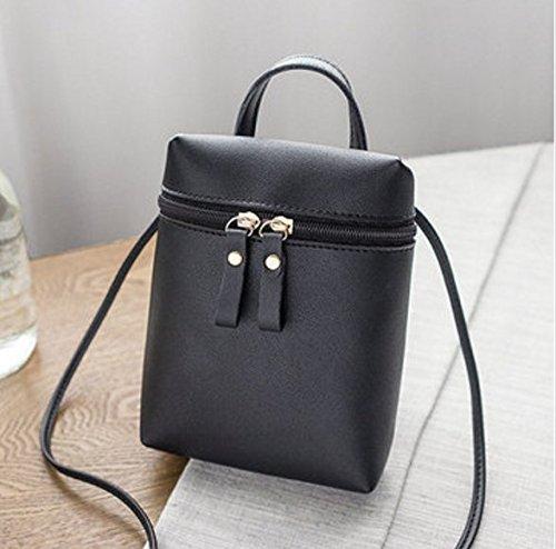 TENGGO Femme Élégante 5.5 inches Téléphone Sac Épaule Sac Bandoulière Sacs Femmes-Bleu Noir