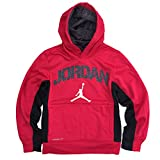 NIKE Air Jordan Jumpman Boys' Pullover Hoodie, Gym Red/Black, Small