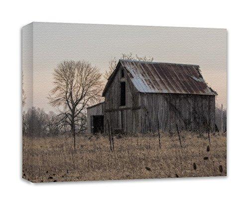 Barn Art Canvas Rustic Farm House Wall Decor 'Morning Glory Barn' by Nature's Vista Photography
