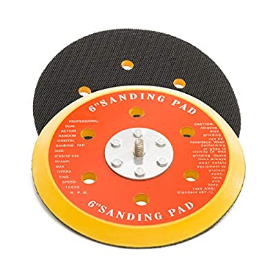 Glass Polish GP12713 DA Dual Action Hook and Loop Backing pad with 5/16''-24 Thread/Diameter 6 inch / 6 Holes: Automotive