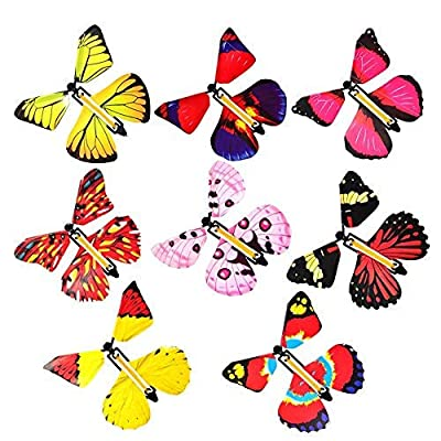 isilky Magic Flying Butterfly Gift Cards - Wind Up Butterfly in The Book Fairy Toy Great Surprise Wedding (10PCS)(10 are All The Same Color): Home & Kitchen