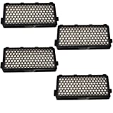 HQRP Active HEPA Filter 4-Pack for Miele SF-AH50 SF-AH 50 AH 50 AH50 05996883 05996882 07226170 AirClean 50, HA 50, 09616280 AAC 50, 09616110 HEPA AirClean 50, S4000 S5000 S6000 Vac Vacuum + Coaster