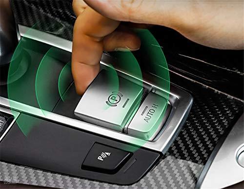 Interior Center Console Electronic Handbrake AUTO H Button Trim Cover 2pcs