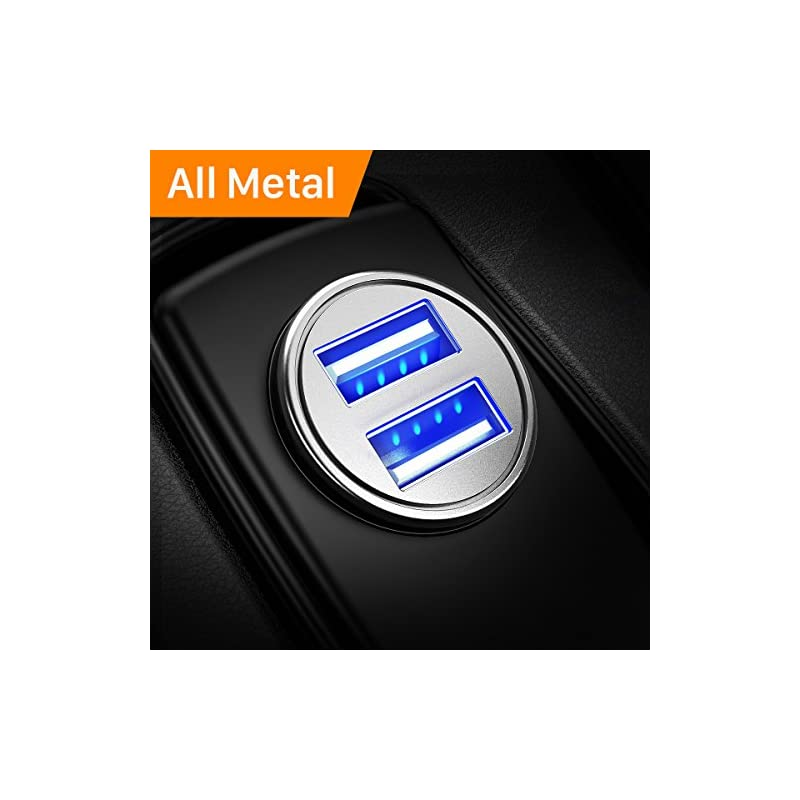 Car Charger, Ainope 4.8A Aluminum Alloy