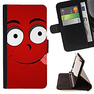 King Air - Premium PU Leather Wallet Case with Card Slots, Cash Compartment and Detachable Wrist Strap FOR Apple iPhone 4 4S 4G- Funny Kidding Pattern Art Cartoon Cute