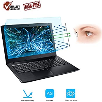 2-Pack 15.6 Inch Laptop Screen Protector -Blue Light and Anti Glare Filter, FORITO Eye Protection Blue Light Blocking & Anti Glare Screen Protector for ...