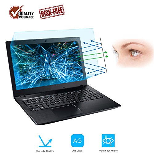 2-Pack 15.6 Inch Laptop Screen Protector -Blue Light and Anti Glare Filter, FORITO Eye Protection Blue Light Blocking & Anti Glare Screen Protector for 15.6