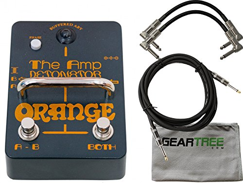 Orange AMP-DETONATOR Buffered Active ABY Stomp Box w/ Cleaning Cloth and 3 Cables by Orange (Image #2)