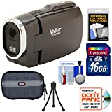Vivitar DVR949HD 1080p HD Video Camera Camcorder (Black) with 16GB Card + Case + Tripod + Kit