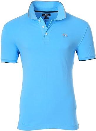 La Martina Polo Poloshirt Hombre Azul Gris Slim Fit algodón ...