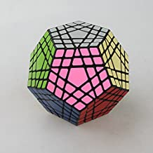 Ting-W® Shengshou Abnormity Speed Cube 12 Faces 5 Layers Magic Plastic Cube 5x5 Speed Twist Polyhedron Puzzle Cube Toy Black Megaminx