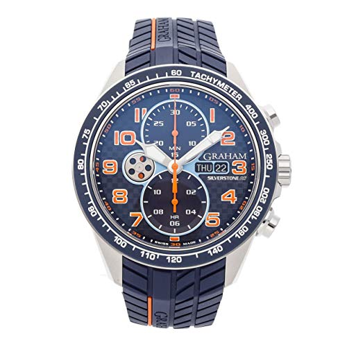 Graham Silverstone Mechanical (Automatic) Blue Dial Mens Watch 2STEA.U04A.A26F (Certified Pre-Owned)