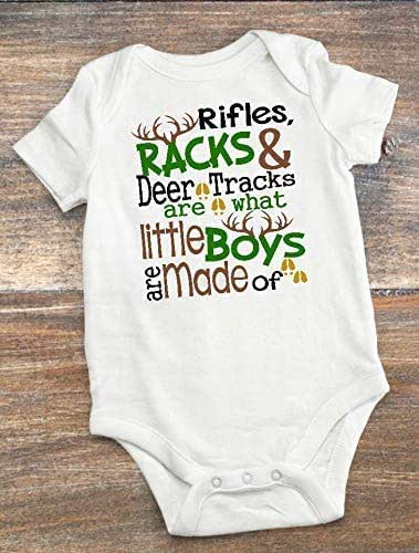 Rifles Little Boys Onesie and Deer Tracks Are What Little Boys Are Made Of Racks