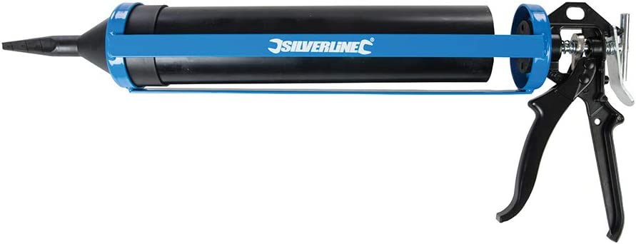 Silverline Pistolet d/'isolation pour mortier Mortier Presse mörtelsprite avec accessoires NEUF