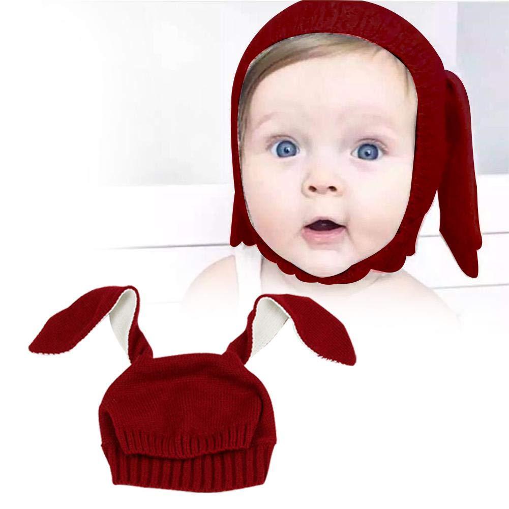 Chapeau bebe Garç ons Fille de hiver, Mignon Oreilles De Lapin Bonnet/Chaud Chapeaux pour bebe naissance 0-4 ans, Chapeau d'automne et d'hiver Chapeau d' automne et d' hiver Haodene
