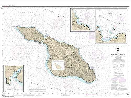NOAA Chart 18757: Santa Catalina Island; Avalon Bay; Catalina Harbor; Isthmus Cove, 33.9 X 45.5, TRADITIONAL PAPER
