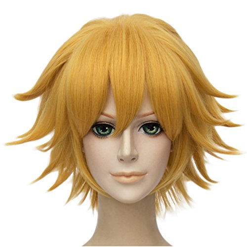 Sexy Care Bear Costumes (Flovex Short Straight Anime Cosplay Wigs Natural Sexy Costume Party Daily Hair (Gold))