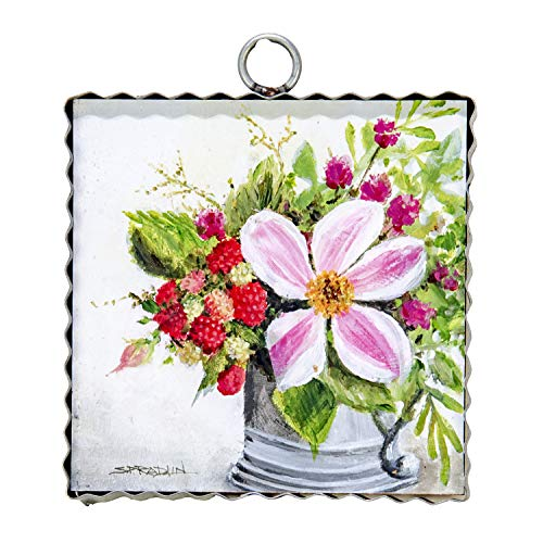 (The Round Top Collection - Gallery Raspberries Wall Art - Metal & Wood )