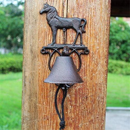 装飾的なドアベル素朴なヴィンテージ動物鋳鉄錬鉄ドアベルウォールベルメタルウォールマウントドアコールベル家庭用
