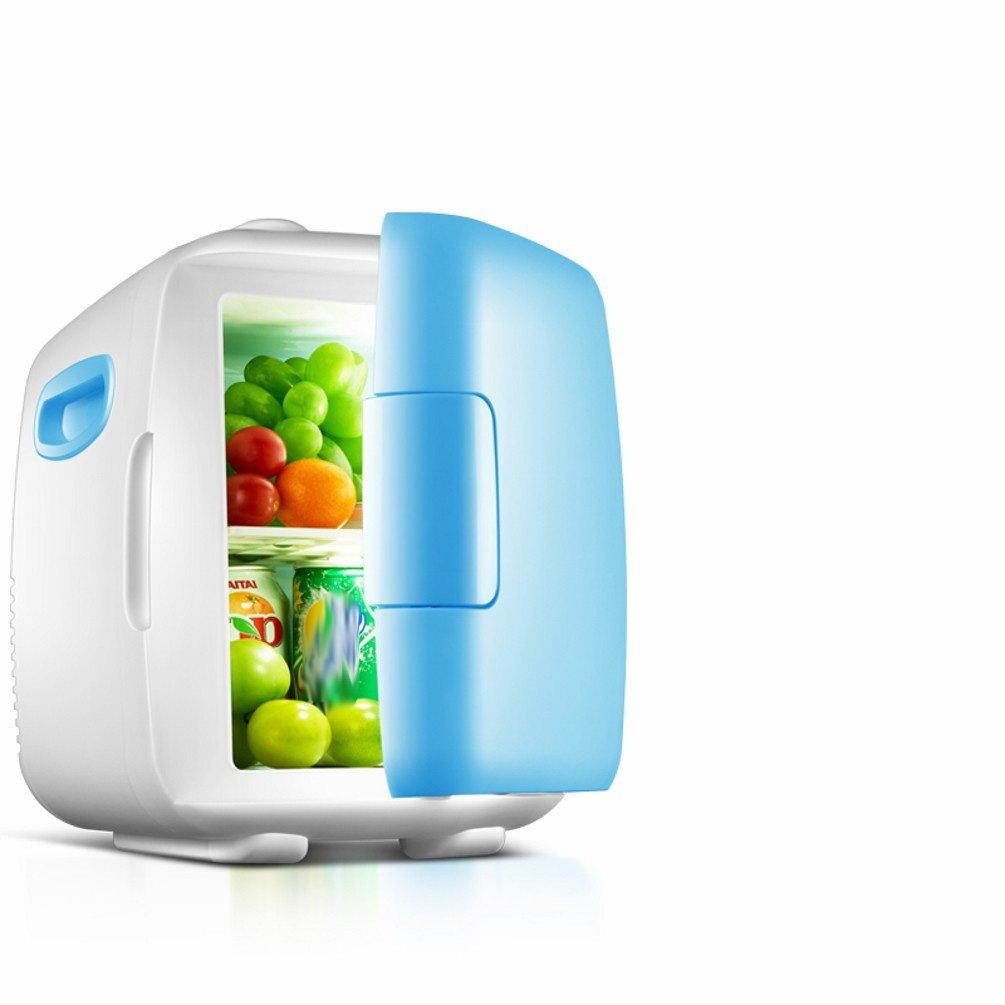 GBT 4L piccolo mini frigorifero casa dormitorio a doppio uso piccolo frigorifero frigorifero frigorifero mini freddo congelato latte,Blu,4L