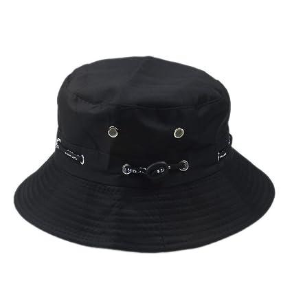 527bef6aaa4 Elee Unisex Bucket Hat Boonie Flat Hunting Fishing Outdoor Summer Cap  Cotton (Black)