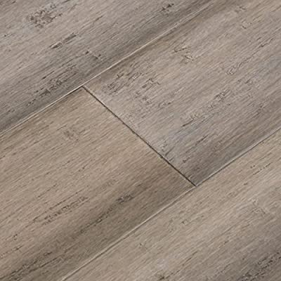 Cali Bamboo - Solid Wide T&G Bamboo Flooring, Catalina Gray, Heavy Distressed - Sample