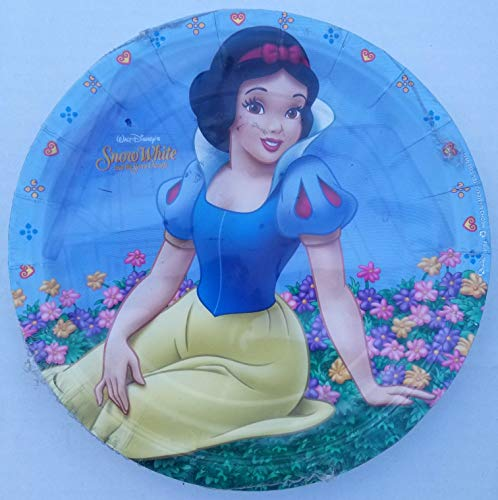 Snow White Princess Party Plates Lunch Birthday Favors Partyware Supplies Pack of 8 ()