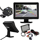 SMTSMT 2017 4.3'' TFT LCD Car Rear View Mirror Monitor + Night Vision Backup Reverse Camera