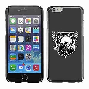 "Planetar® ( Skull Goth Crest ) Fundas Cover Cubre Hard Case Cover 5.5"" iPhone 6 Plus"