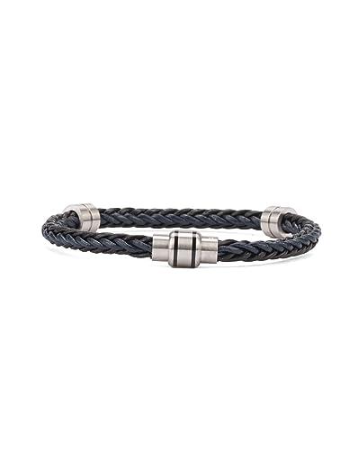 770575845 Ted Baker - Bracelets - Men - Black and Blue Two-Tone Leather Block Bracelet  for men - TU  Amazon.co.uk  Jewellery