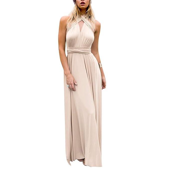 09e41c7b36 OBEEII Vestido Bandage Mujer Elegante Vestidos Largos para Fiesta Cóctel  Noche Ceremonia Boda Gala  Amazon.es  Ropa y accesorios
