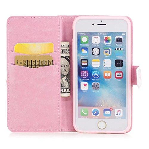 COWX iPhone 6 6S Hülle Tasche PU Lederhülle für Apple iPhone 6 6S Tasche Brieftasche Eule