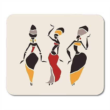 Tappetino per mouse con figure colorate di ballerine africane ...