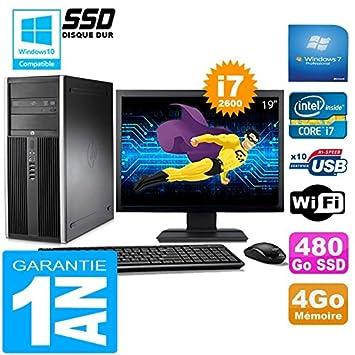 HP PC Torre Compaq 8200 Core i7 - 2600 4 GB RAM Disco 480 GB SSD ...