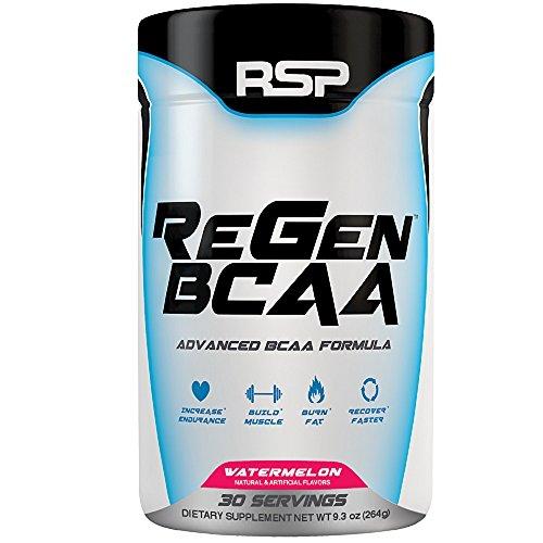 RSP Nutrition Regen BCAA Powder, Watermelon, 9.3 oz.