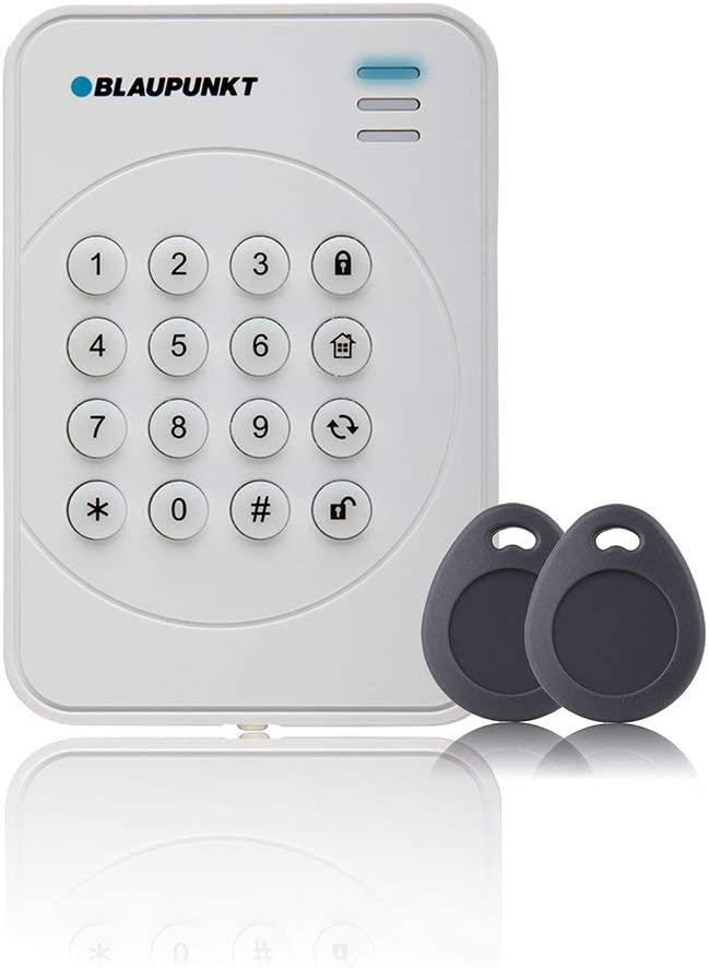 Blaupunkt KPT-R1 inalámbrico RFID, Rolling Seguro, cifrado por Radio, fácil de Usar y Alarma, Panel de Control con código Enrollable, Incluye Lector de día y 2 Etiquetas
