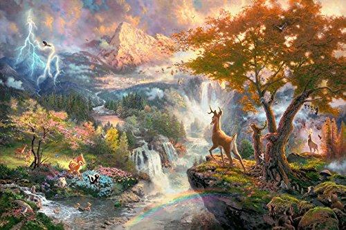 MFOutletShop New Thomas Kinkade Disney Paintings M:1942 Oil