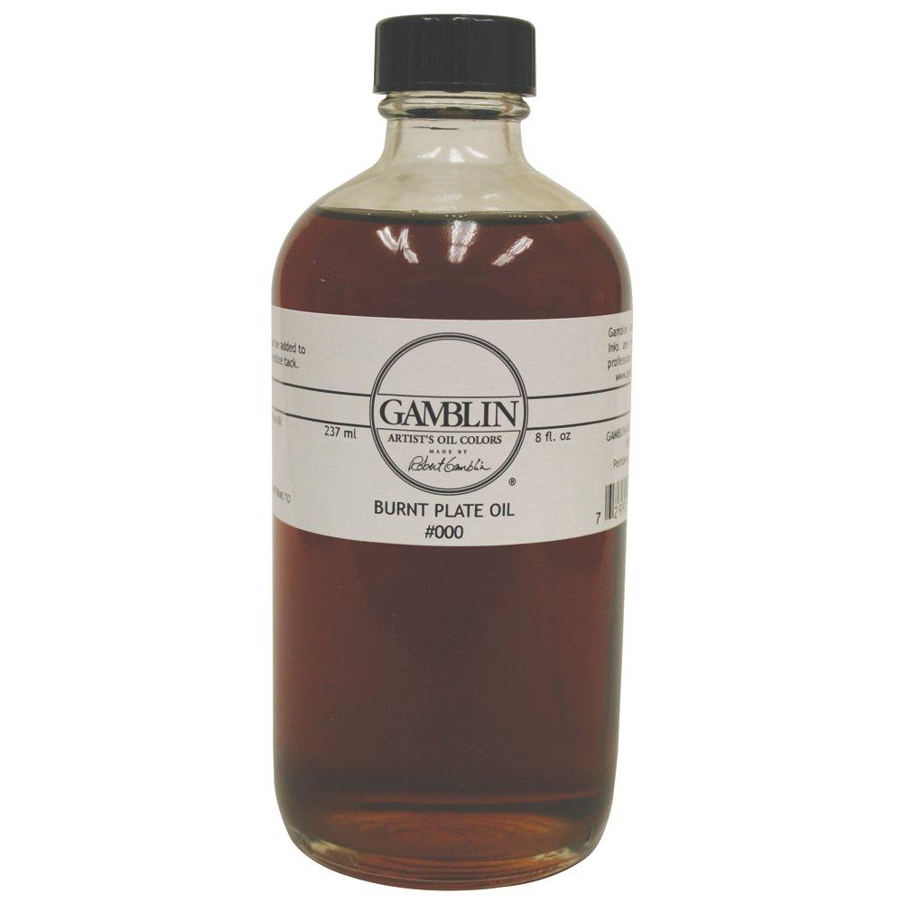 Gamblin Burnt Plate Oil #000 8 Oz by Gamblin