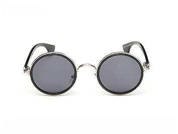 GZW001 Gafas de Sol polarizadas Unisex Classic Round Metal ...