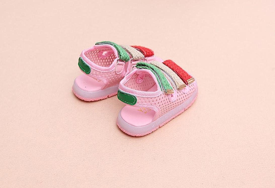 QinMM Kleinkind Kinder Sport Sommer Jungen M/ädchen Baby Sandalen LED Leucht Schuhe Turnschuhe Sommer Freizeitschuhe Nette Wei/ße Rosa Schwarz 20-29
