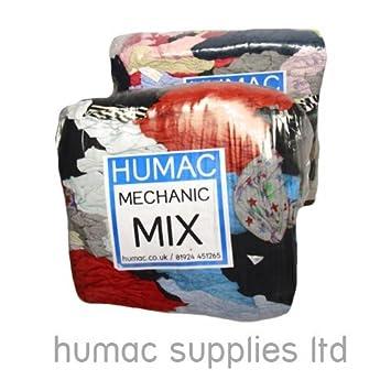 Mezcla de paños y trapos de limpieza para talleres mecánicos, limpiaparabrisas industriales de 20 kg, Humac: Amazon.es: Coche y moto
