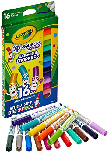 Crayola Washable Pip-Squeaks Skinnies Markers 16-Count per Pack (1-Pack)  -