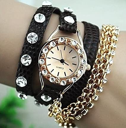 Relojes con Rhinestone-pulsera llama multi-Stil estudiantes niños ver relojes mujer, relojes