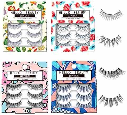 723940a8221 JIMIRE Fake Eyelashes 12 Pairs False Eyelashes Multipack Reusable 4 Styles False  Lashes