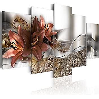 Konda Art - Floral Canvas Art Modern Paintings for Wall Decor 5 pcs Contemporary Abstract Flower Print Artwork for Living Room Framed and Ready to Hang (40
