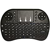 Mini Keyboard with Touchpad 2.4Ghz Wireless Qwert keyboard With Li Battery Universal Remote Control for PC Xbox 360 Ps3 Google Android Tv Box (Black)