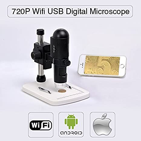 Express Panda 720P HD Wifi microscopio digital para iOS / Android / PC, Medición en